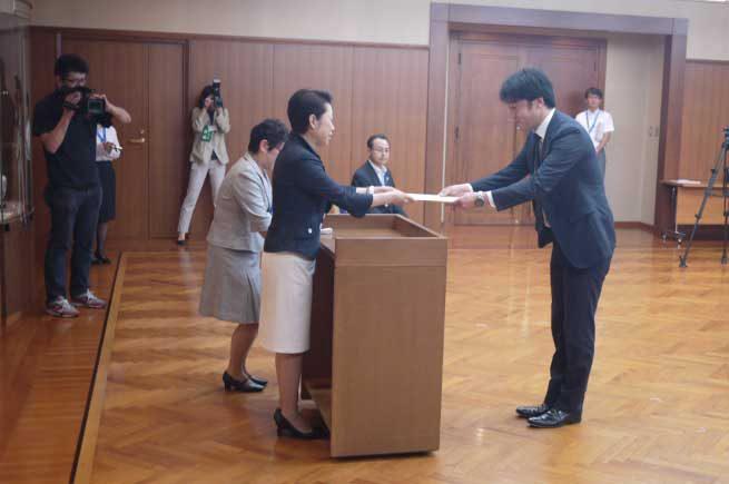 東京都足立区での表彰式